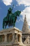 статуя stephen Венгрии i Стоковое Изображение RF