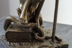 Статуя Themis - богиня правосудия деталь стоковое фото