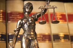 Статуя Themis юридического офиса законная Стоковые Изображения RF