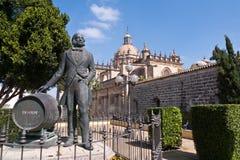 Статуя Tio Pepe на Jerzez, Испании Стоковое Изображение