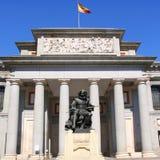 статуя velazquez prado museo madrid del стоковое фото