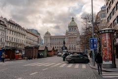 Статуя Wenceslaus Святого на Vaclavske Namesti в Праге, чехии стоковые фотографии rf