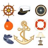 Статьи морского оборудования Стоковое Изображение RF