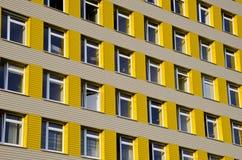 стационар здания предпосылки много окон Стоковая Фотография