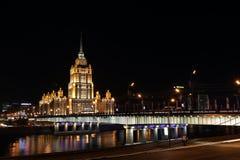 Сталинист небоскреб в присутствующем времени Стоковые Фото