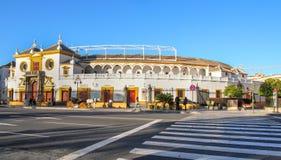 Стадион бой Bull (Ла Реальн Maestranza de C de toros de площади Стоковые Фото