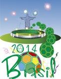 Стадион 2014 Бразилии Стоковые Изображения