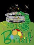 Стадион 2014 Бразилии Стоковое Фото