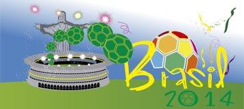 Стадион 2014 Бразилии Стоковые Фото