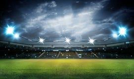 Стадион в светах и вспышках 3d Стоковое Изображение