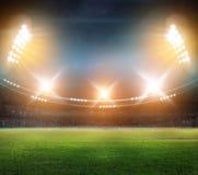 Стадион в светах и вспышках 3d Стоковые Изображения RF
