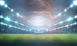Стадион в светах и вспышках 3d Стоковое Фото