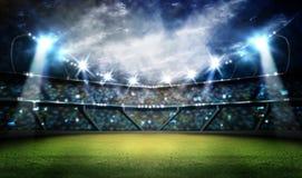 Стадион в светах Стоковые Фото