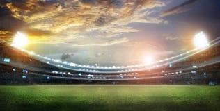 Стадион в светах Стоковые Изображения RF