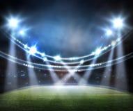 Стадион в светах Стоковые Фотографии RF