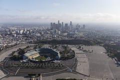 Стадион Доджер и городское Лос-Анджелес Стоковое фото RF