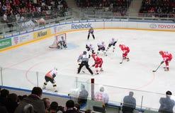 стадион игроков hokey Стоковая Фотография RF