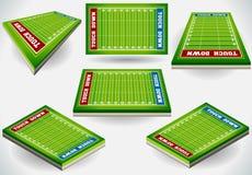 Стадион информации графический с указателем места заполнения игрока Стоковая Фотография