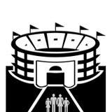 Стадион и люди Стоковые Фото