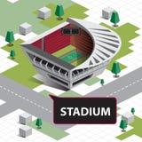Стадион карты равновеликий Стоковое Изображение RF