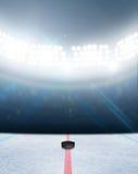 Стадион катка хоккея на льде Стоковые Изображения RF