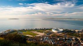 Стадион Кейптауна & остров Robben Стоковые Фотографии RF