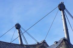 Стадион Мюнхен Олимпии, деталь конструкции Стоковые Фотографии RF