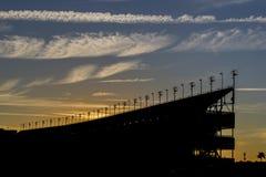Стадион на заходе солнца Стоковое Изображение RF