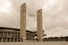 Стадион Олимпии Берлина Стоковое фото RF