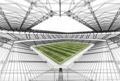 Стадион рамки провода иллюстрация вектора