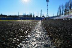 Стадион спорта. путь для бега. Стоковое Изображение RF
