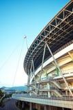 Стадион спортзала на восходе солнца Стоковые Изображения