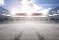 Стадион следа автошины Стоковая Фотография