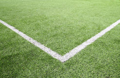 Стадион травы футбола и футбольного поля Стоковые Изображения