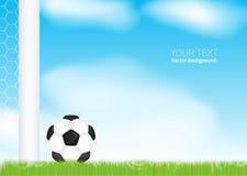 Стадион футбола футбольного поля. Вектор Стоковое Изображение