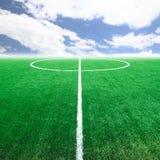 Стадион футбольного поля футбола Стоковое Изображение RF