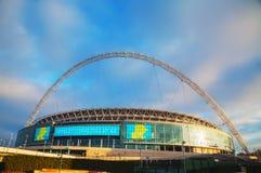 Стадион Wembley в Лондоне, Великобритании Стоковое Изображение