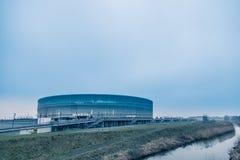 Стадион Wroclaw, холодная предпосылка тона Стоковые Изображения RF