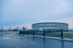Стадион Wroclaw, холодная предпосылка тона Стоковое фото RF