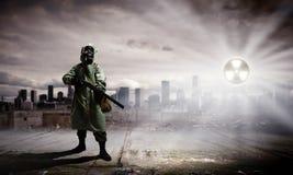 Сталкер с оружием Стоковая Фотография