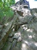 Стальная веревочка на beinning через ferrata стоковое фото rf