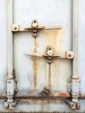 Стальная дверь контейнера. Стоковые Изображения RF