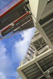 Стальная конструкция верхней части небоскреба стоковое изображение rf
