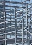 Стальная конструкция промышленного здания под конструкцией Стоковое Изображение