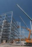 Стальная конструкция промышленного здания под конструкцией Стоковые Фото