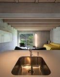 Стальная раковина кухни Стоковая Фотография