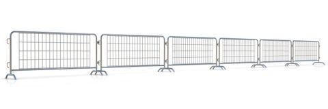 Стальная строка баррикад бесплатная иллюстрация