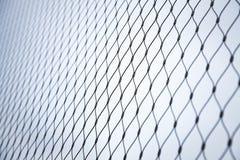 Стальная текстура предпосылки загородки звена цепи Стоковое Изображение