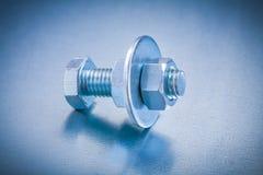 Стальное screwbolt с шайбой и конструкцией болта Стоковое фото RF