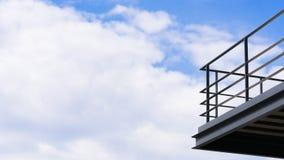 Стальной балкон Стоковое Фото